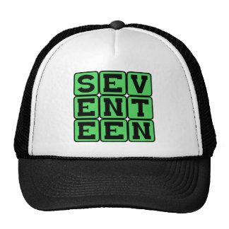 Seventeen, Number 17 Mesh Hats