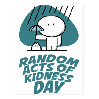 Seventeenth February - Random Acts Of Kindness Day Postcard