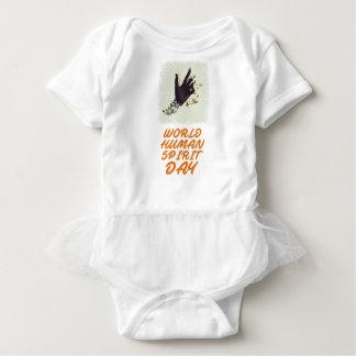 Seventeenth February - World Human Spirit Day Baby Bodysuit