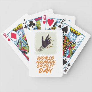 Seventeenth February - World Human Spirit Day Bicycle Playing Cards