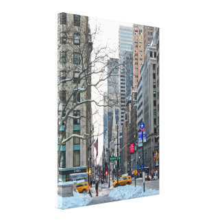 Seventh and Forty-second Street in January Canvas Print