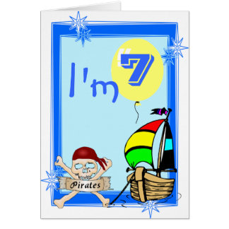 Seventh  Birthday Greeting Card