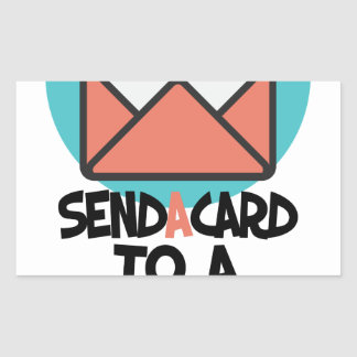 Seventh February - Send a Card to a Friend Day Rectangular Sticker