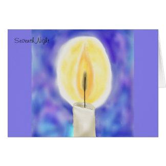 Seventh Night Hanukkah Card