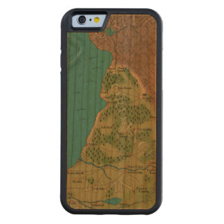 Seventh Night World Map Carved® Cherry iPhone 6 Bumper Case