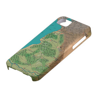 Seventh Night World Map Cover For iPhone 5/5S