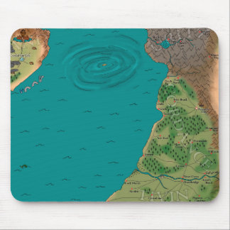 Seventh Night World Map Mouse Pads