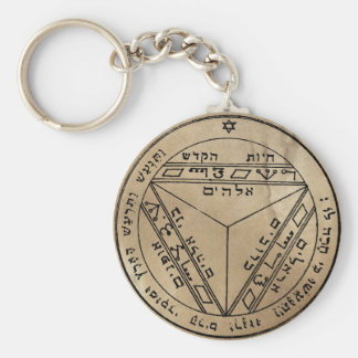 Seventh Pentacle of Saturn Keychain