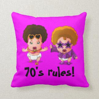 Seventies rules! throw cushion