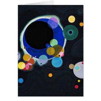 Several Circles Greeting Card