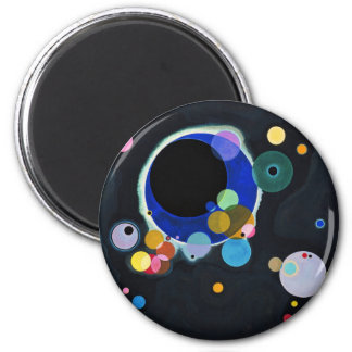 Several Circles 6 Cm Round Magnet