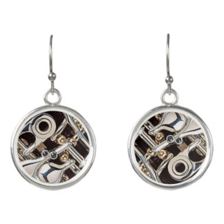 Several Oboe Keys Earrings