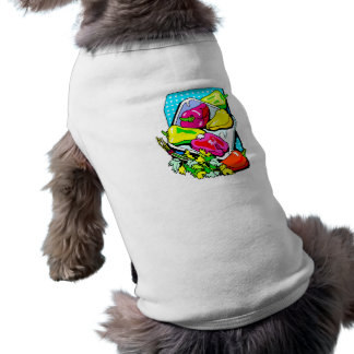 Several peppers and veggies graphic doggie t-shirt