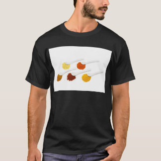 Several seasoning spices on porcelain spoons T-Shirt