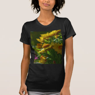Several Yellow Flowers Grass T-shirts