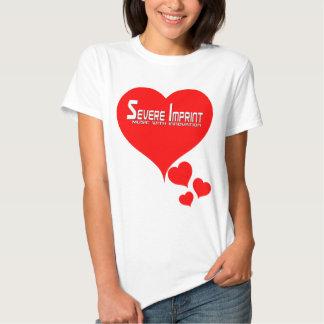 Severe Imprint Women's Love Heart Value T-Shirt