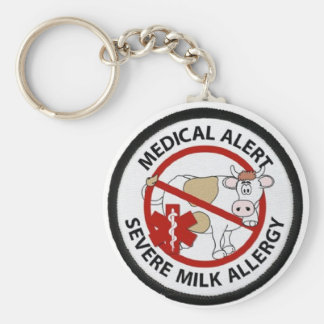 Severe Milk Allergy Key Ring