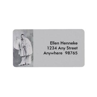 Severin as Pierrot Address Label