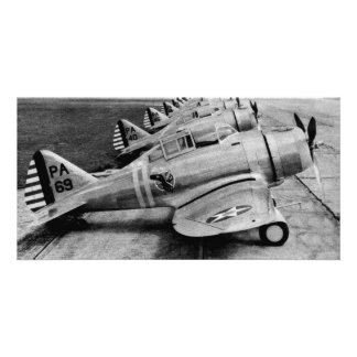 Seversky P-35 Vintage WWII Fighter Planes Customized Photo Card