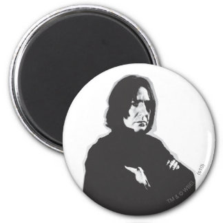 Severus Snape Arms Crossed B-W 6 Cm Round Magnet