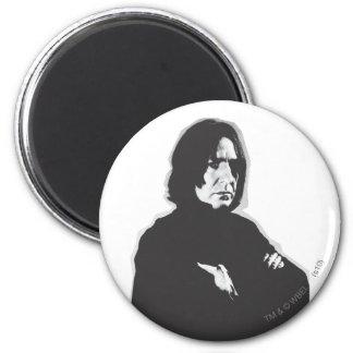 Severus Snape Arms Crossed B-W 6 Cm Round Magnet