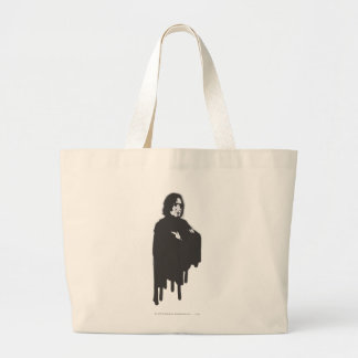 Severus Snape Arms Crossed B-W Large Tote Bag