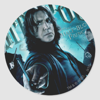 Severus Snape With Death Eaters 1 Round Sticker