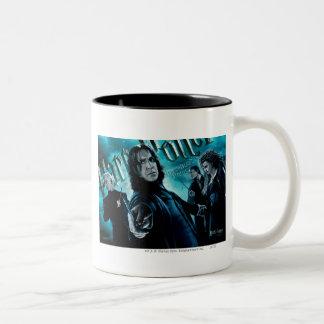 Severus Snape With Death Eaters 1 Two-Tone Coffee Mug