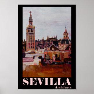 Sevilla Andalucia Spain Retro Poster