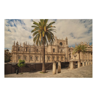 Seville Cathedral in Spain Wood Wall Art