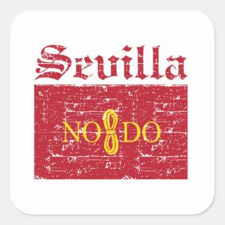Seville City Designs Square Sticker