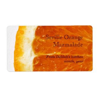 seville orange marmalade label shipping label