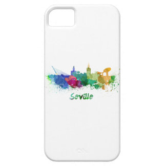 Seville skyline in watercolor iPhone 5 cases