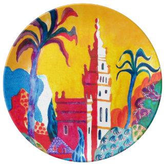 Seville Spain. Porcelain Plate