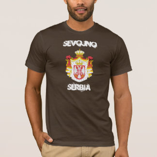 Sevojno, Serbia with coat of arms T-Shirt
