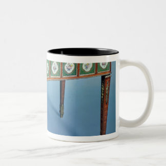 Sevres games table with porcelain plaques Two-Tone mug