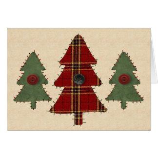 Sew Christmas Tree Card