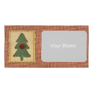 Sew Christmas Tree Holiday Photo Card