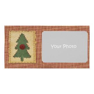 Sew Christmas Tree Holiday Photo Card