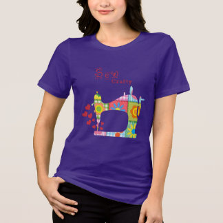 Sew Crafty Purple Quilt by Mini Brothers T-Shirt