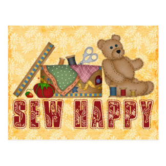 Sew Happy Postcard