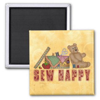 Sew Happy Square Magnet