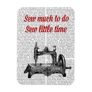 Sew Little Time Illustration Rectangular Photo Magnet