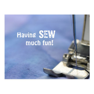 Sew much fun postcard