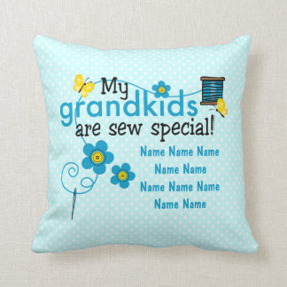Sew Special Grandkids Personalized Throw Pillow