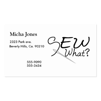 Sew What Pack Of Standard Business Cards
