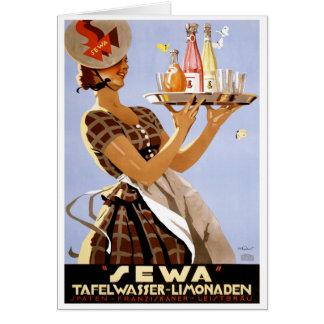 Sewa German Vintage Poster Restored Card