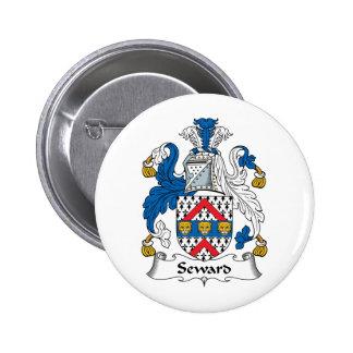 Seward Family Crest 6 Cm Round Badge