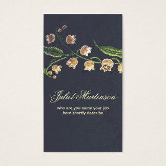 sewed flowers business card