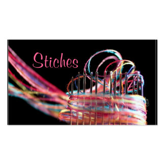 sewing alterations business card colorful fun